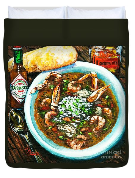 Seafood Gumbo Duvet Cover by Dianne Parks