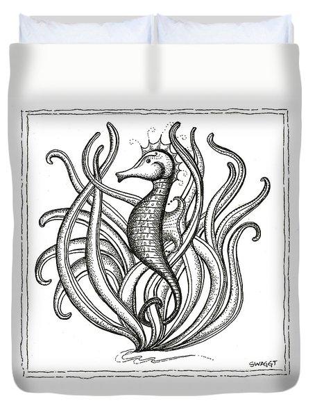 Seahorse Duvet Cover by Stephanie Troxell