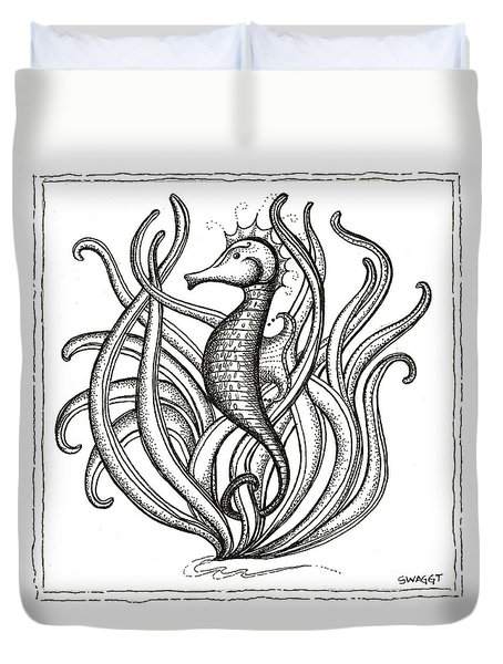 Seahorse Duvet Cover by Stephanie Troxell