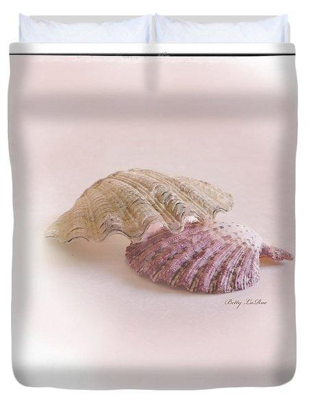 Seashell Love Duvet Cover by Betty LaRue