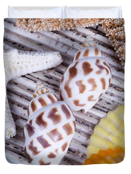 Seashells And Starfish Duvet Cover by Bill Brennan - Printscapes