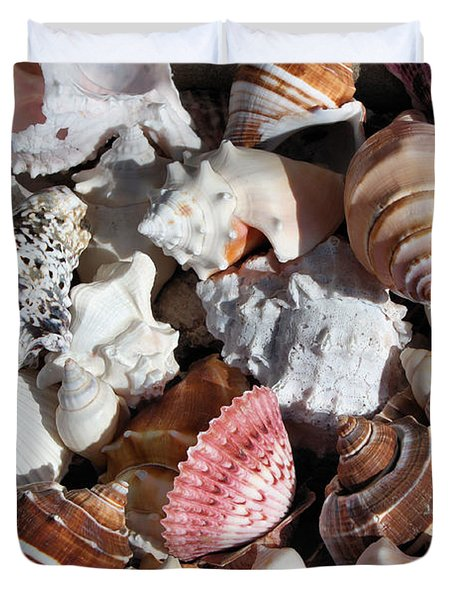 Seashells Duvet Cover by Kristin Elmquist