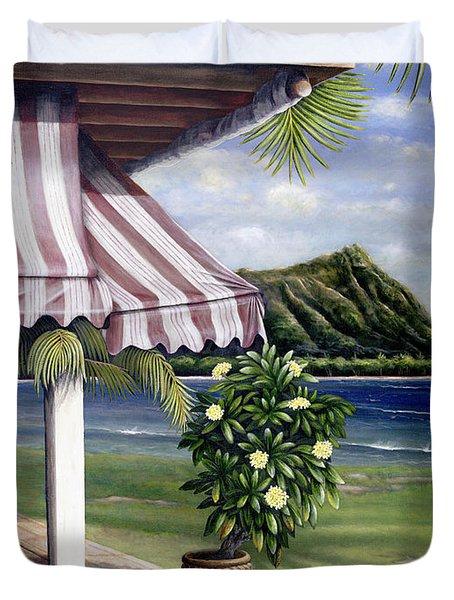 Seaside Hotel Duvet Cover by Sandra Blazel - Printscapes
