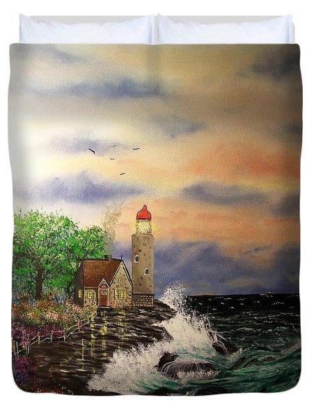 Seaside Vigil Duvet Cover by Laurie Kidd