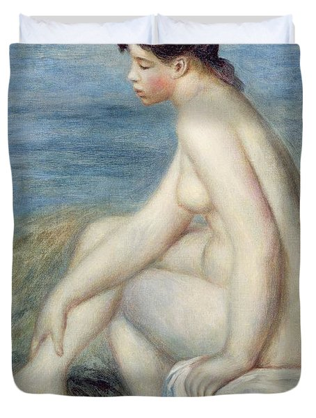 Seated Bather Duvet Cover by Renoir