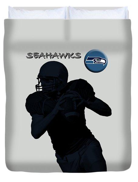 Seattle Seahawks Football Duvet Cover by David Dehner