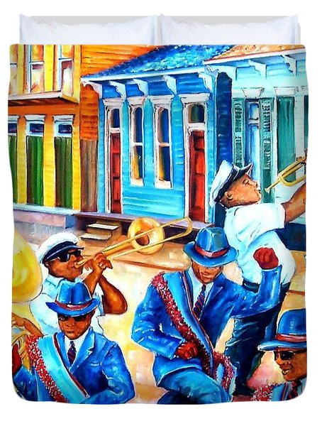 Second Line In Treme Duvet Cover by Diane Millsap