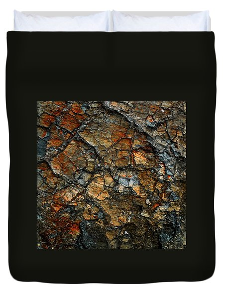 Sedimentary Abstract Duvet Cover by Dave Martsolf