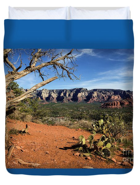 Sedona Overlook Duvet Cover by Jon Burch Photography