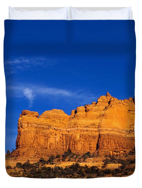 Sedona Smoke Signals Duvet Cover by Mike  Dawson
