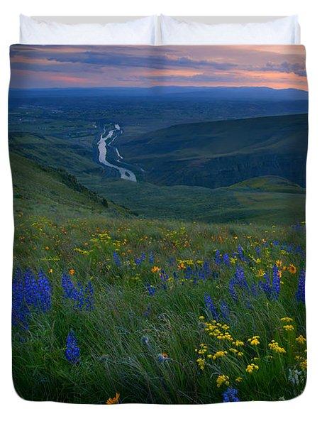 Selah Sunset Duvet Cover by Mike  Dawson