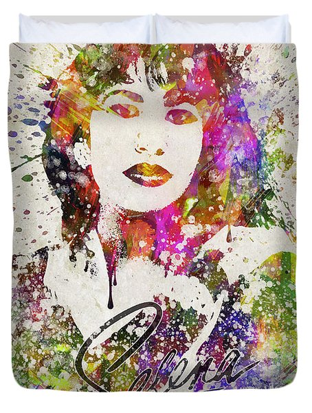 Selena Quintanilla In Color Duvet Cover by Aged Pixel