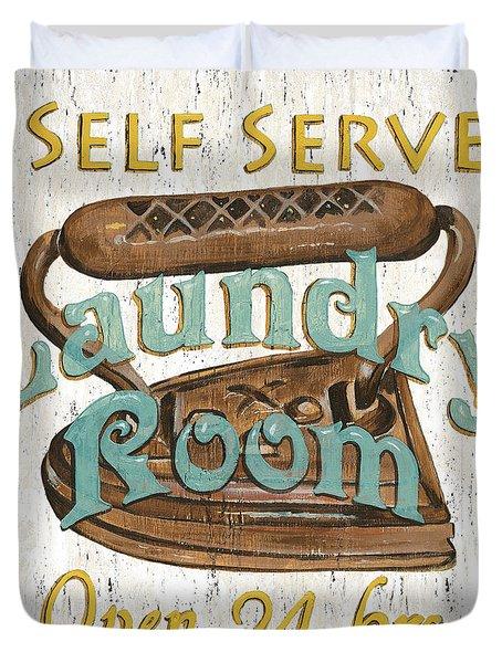 Self Serve Laundry Duvet Cover by Debbie DeWitt