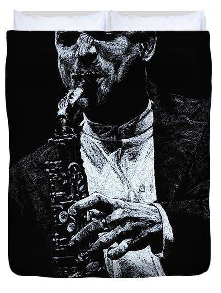 Sensational Sax Duvet Cover by Richard Young
