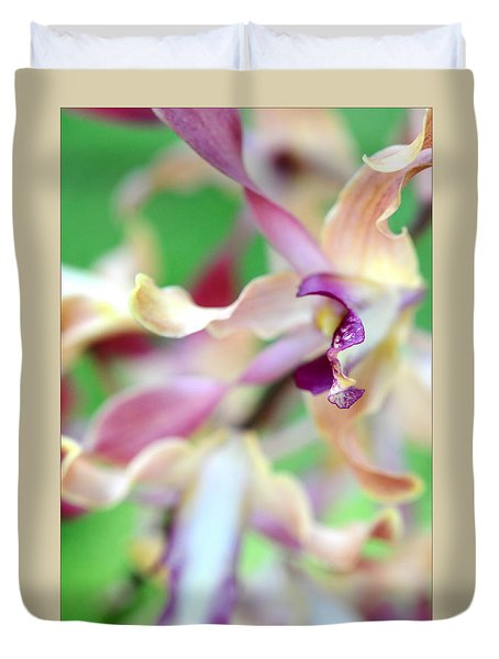 Sensual Touch Of Exotic II. Orchid II Duvet Cover by Jenny Rainbow