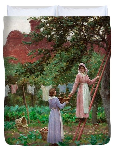 September Duvet Cover by Edmund Blair Leighton