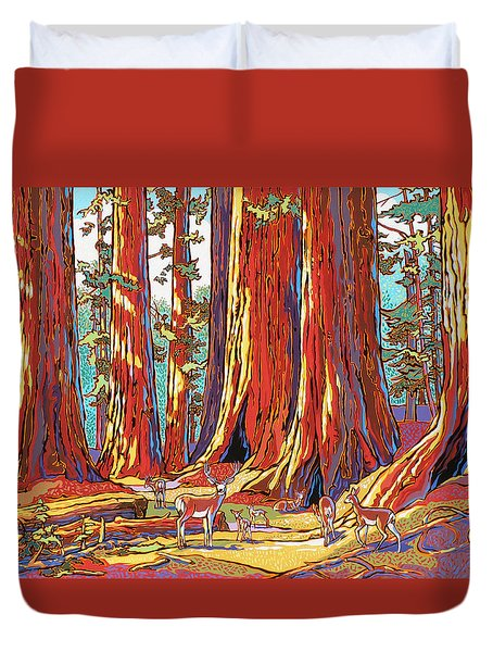 Sequoia Deer Duvet Cover by Nadi Spencer