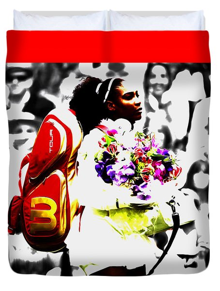 Serena Williams 2f Duvet Cover by Brian Reaves