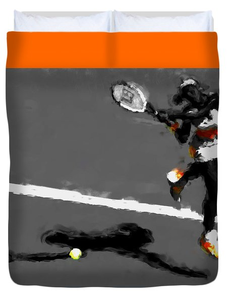 Serena Williams 5r Duvet Cover by Brian Reaves