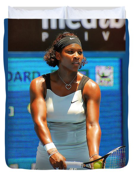 Serena Williams Duvet Cover by Andrei SKY