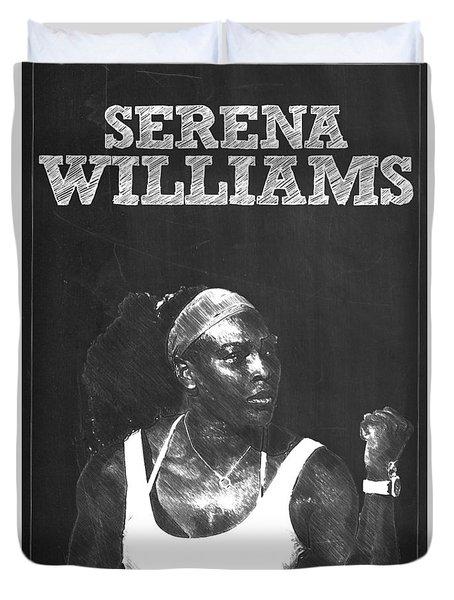 Serena Williams Duvet Cover by Semih Yurdabak