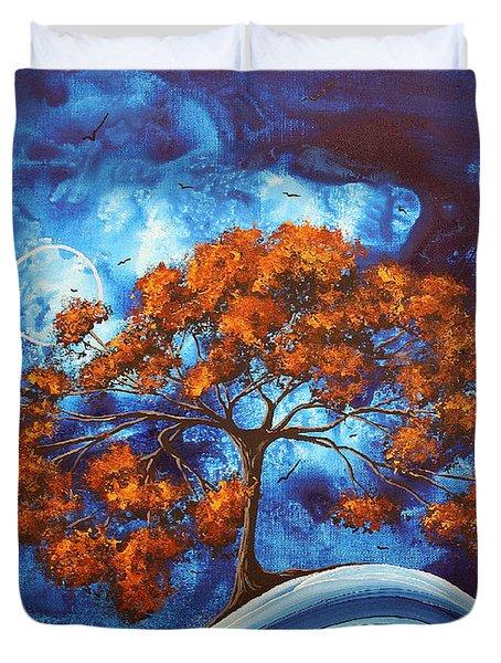 Serendipitous Original Madart Painting Duvet Cover by Megan Duncanson