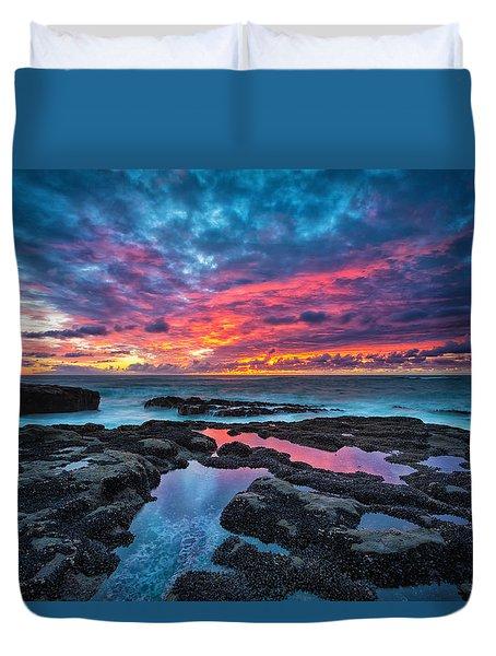 Serene Sunset Duvet Cover by Robert Bynum