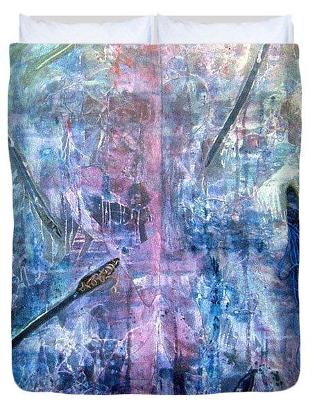 Seven Zippers Duvet Cover by Nancy Mueller