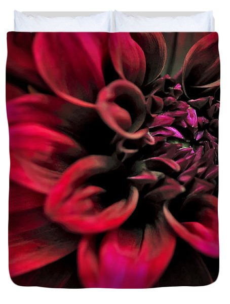 Shades of Red - Dahlia Duvet Cover by Kaye Menner
