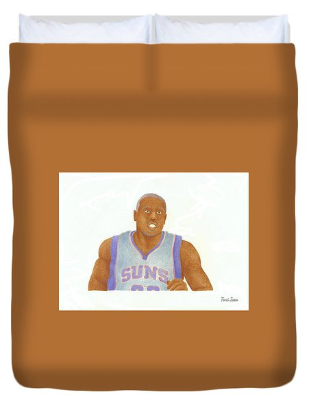 Shannon Brown Duvet Cover by Toni Jaso