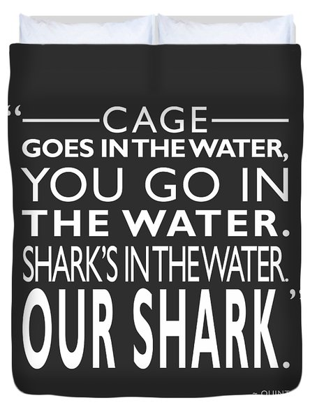 Sharks In The Water Duvet Cover by Mark Rogan