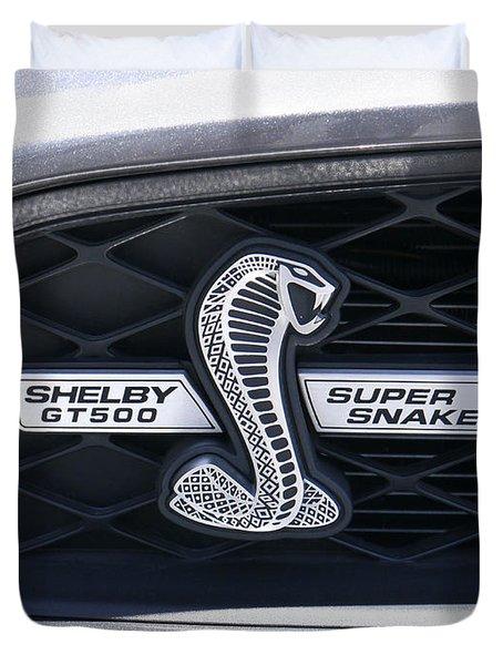 Shelby Gt 500 Super Snake Duvet Cover by Mike McGlothlen