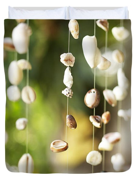 Shell Windchimes Duvet Cover by Kyle Rothenborg - Printscapes