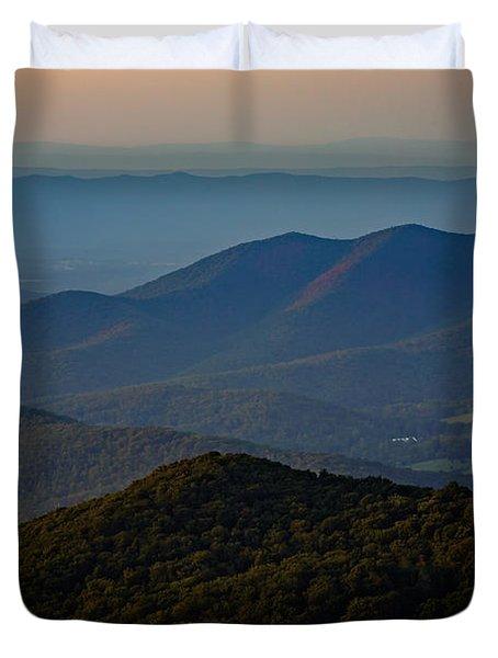 Shenandoah Valley At Sunset Duvet Cover by Rick Berk