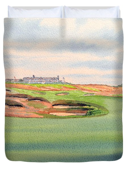 Shinnecock Hills Golf Course Duvet Cover by Bill Holkham