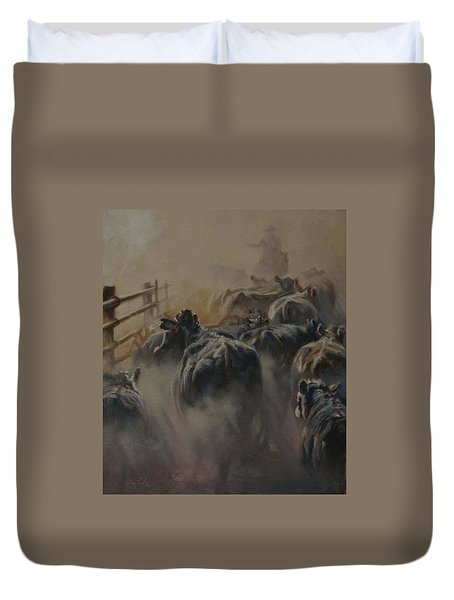 Shipping Dust Duvet Cover by Mia DeLode
