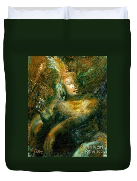 Shiva Lord Of The Dance Duvet Cover by Ann Radley