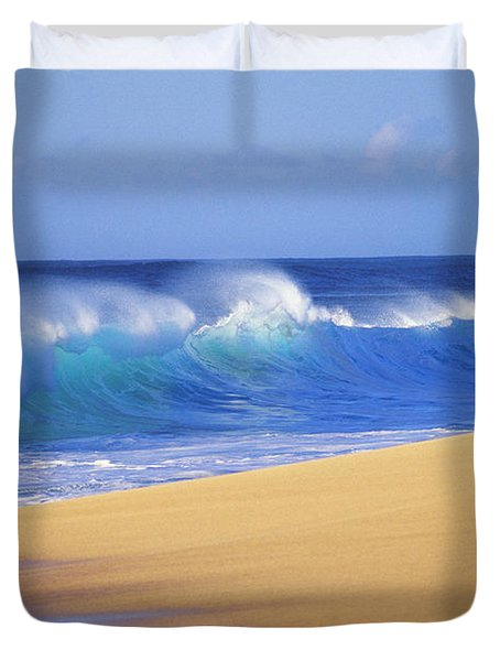 Shorebreak Waves Duvet Cover by Ali ONeal - Printscapes