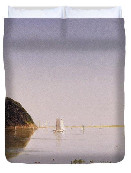 Shrewsbury River - New Jersey Duvet Cover by John Frederick Kensett