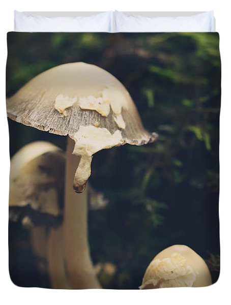 Shroom Family Duvet Cover by Shane Holsclaw