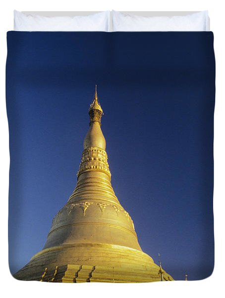 Shwedagon Paya Duvet Cover by William Waterfall - Printscapes