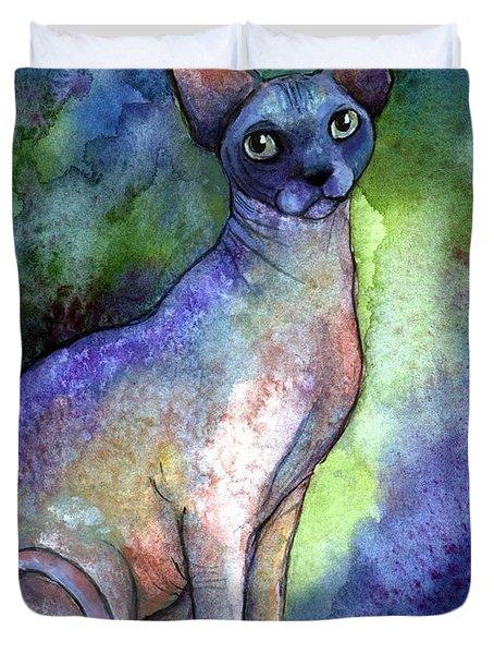 Shynx Cat 2 Painting Duvet Cover by Svetlana Novikova