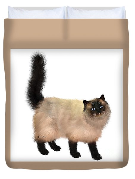 Siamese Cat Duvet Cover by Corey Ford