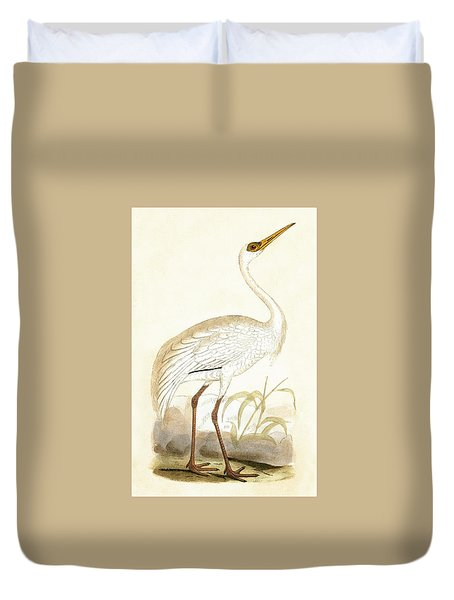 Siberian Crane Duvet Cover by English School