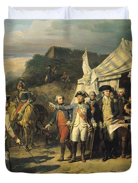 Siege Of Yorktown Duvet Cover by Louis Charles Auguste  Couder