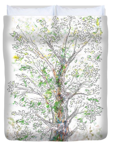 Silent Witness Duvet Cover by Regina Valluzzi