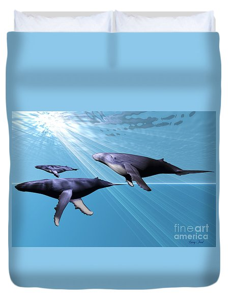 Silver Sea Duvet Cover by Corey Ford