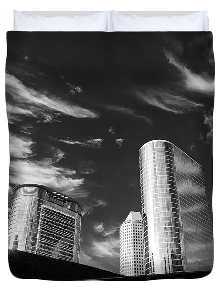 Silver Towers Duvet Cover by Dave Bowman