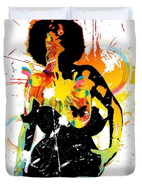 Simplistic Splatter Duvet Cover by Chris Andruskiewicz