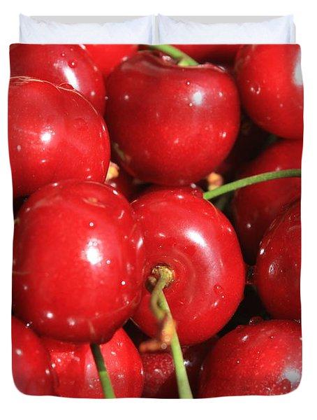 Simply Cherries  Duvet Cover by Carol Groenen